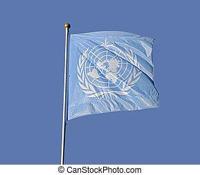 bandeira, unidas, nação