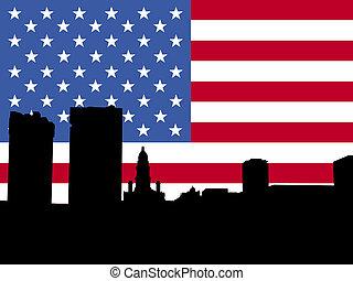 bandeira, valor, forte