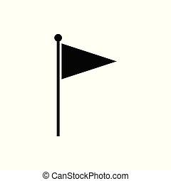 bandeira, vetorial, ícone