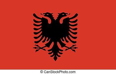 bandeira, vetorial, albânia