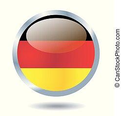 bandeira, vetorial, alemanha