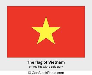 bandeira, vetorial, bandeira, vietnã