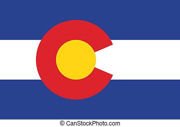 bandeira, vetorial, colorado