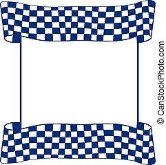 bandeira, vetorial, correndo, checkered