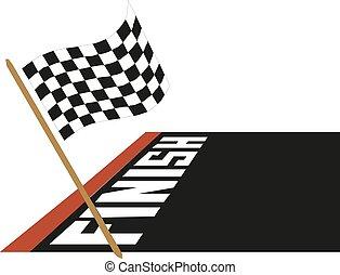 bandeira, vetorial, correndo, ilustração, ícone