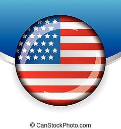 bandeira, vetorial, emblema, eua