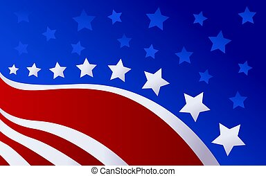 bandeira, vetorial, estilo, eua