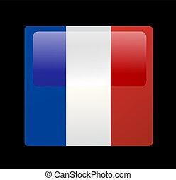 bandeira, vetorial, francês