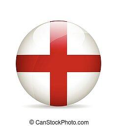 bandeira, vetorial, illustration., england.