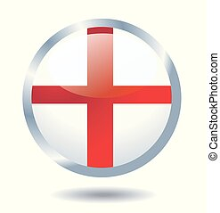 bandeira, vetorial, ilustração, inglês