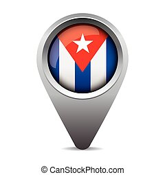 bandeira, vetorial, ponteiro, cuba