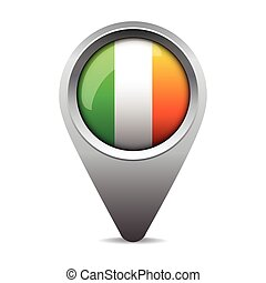 bandeira, vetorial, ponteiro, irlanda