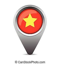 bandeira, vetorial, ponteiro, vietnã