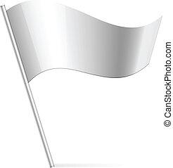 bandeira, vetorial, prata, ilustração