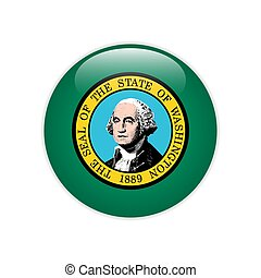 bandeira, washington, botão