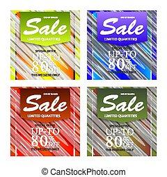 bandeiras, abstratos, jogo, venda, design.