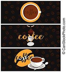 bandeiras, café