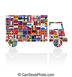 bandeiras, com, car