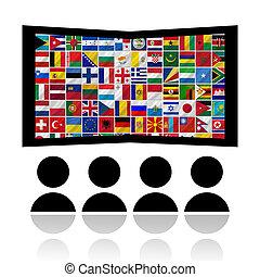 bandeiras, com, filme