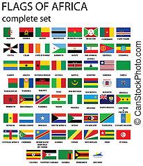 bandeiras, de, áfrica