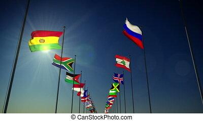 bandeiras, de, a, nações