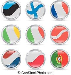 bandeiras européias, ícones