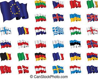 bandeiras, europeu