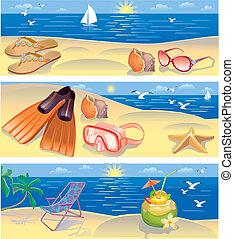 bandeiras, férias praia