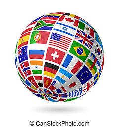 bandeiras, globo