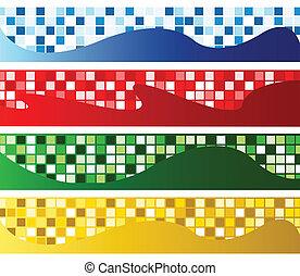 bandeiras horizontais, mosaico