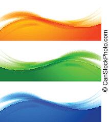 bandeiras, jogo, coloridos