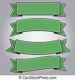 bandeiras, jogo, verde, Fita