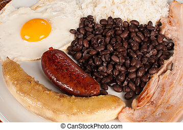 Bandeja paisa, a hearty Colombian classic