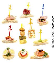 bandeja, ready-to-eat, sándwiches, fresco