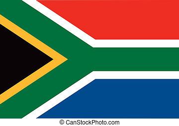 bandera, áfrica, sur