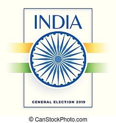 bandera, 2019, diseño, india, elección