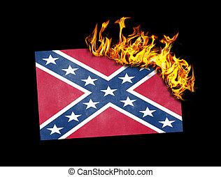 bandera, -, abrasador, confederado