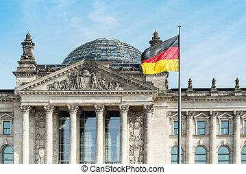 bandera alemana, alemania, berlín