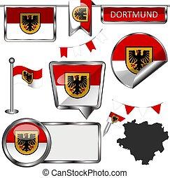 bandera, alemania, dortmund