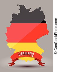 bandera alemania, mapa
