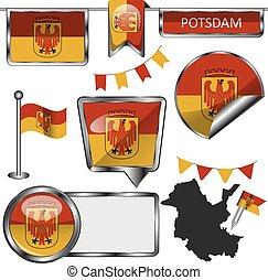 bandera, alemania, potsdam