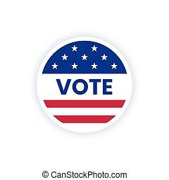 bandera, amerykanka, słowo, vote., głos, usa, rzeźnik