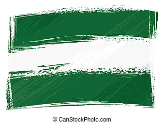 bandera, andalusia, grunge