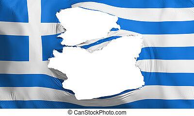 bandera, andrajoso, grecia