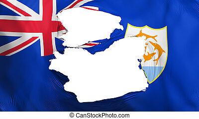 bandera, anguilla, andrajoso