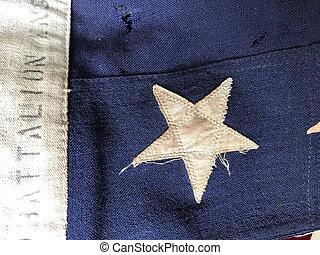 bandera, batalion, szczegół, usa