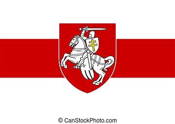 bandera, belarus, viejo