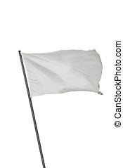 bandera blanca, aislado