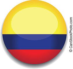 bandera, botón, colombia