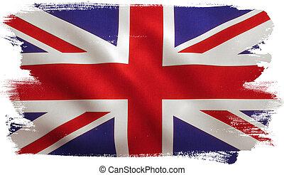 bandera, británico, reino unido
